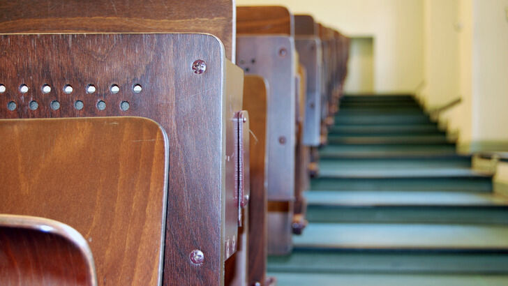 Seats and stairs in a lecture hall